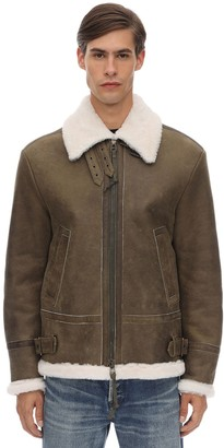 Mr & Mrs Italy Leather Aviator Jacket