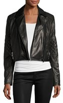 J Brand Adaire Leather Moto Jacket, Black