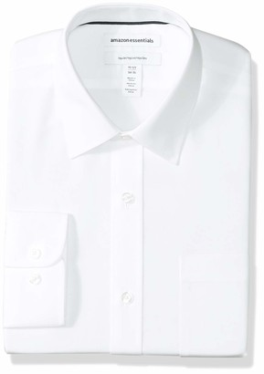 Amazon Essentials Men's Regular-Fit Wrinkle-Resistant Long-Sleeve Solid Dress Shirt