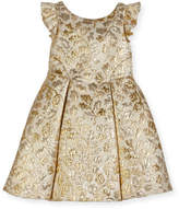 David Charles Pleated Floral Brocade Dress, Size 3-6