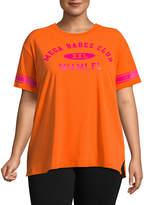 Flirtitude Short Sleeve Crew Neck T-Shirt-Womens Juniors Plus