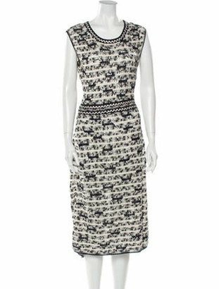Oscar de la Renta 2012 Midi Length Dress Blue