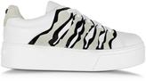 Kenzo White Leather Platform Sneaker