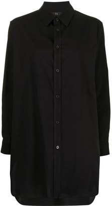 Y's Pointed-Collar Cotton Shirt