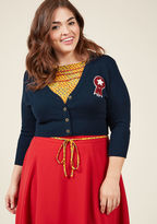 MCS1087 We know that personal style is never a contest - but if it were, your look would undoubtedly take first place with this navy blue cardigan! An Americana offering from our ModCloth namesake label, this soft sweater earns you endless accolades, courtesy of