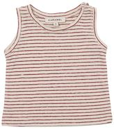 Caramel Baby And Child Striped Linen & Cotton Blend Jersey Top