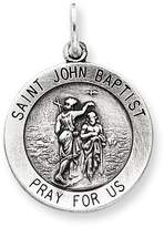 1928 Gold and Watches Sterling Silver Antiqued Saint John the Baptist Medal