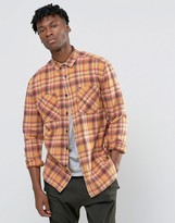 Asos Oversized Orange Check Shirt
