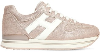 Hogan 45MM H222 LAME LEATHER SNEAKERS