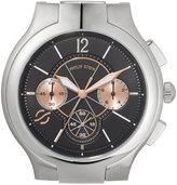 Philip Stein Teslar Large Classic Chronograph Watch Head, Silver/Black