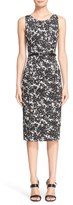 Michael Kors 'August' Print Cotton Sateen Sheath Dress