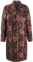 Ann Demeulemeester long sleeve paisley pattern coat