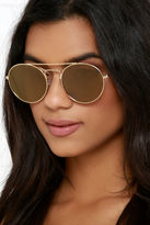 LuLu*s One for the Books Silver and Blue Sunglasses