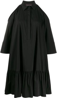 Talbot Runhof Ruffled Hem Shirt Dress