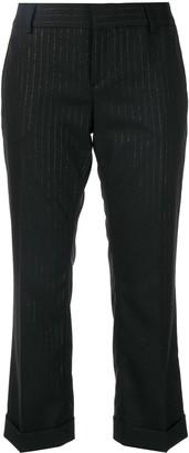 Saint Laurent Cropped Pinstripe Trousers