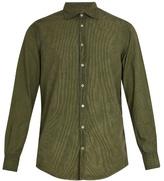 Massimo Alba Point-collar Striped Cotton Shirt