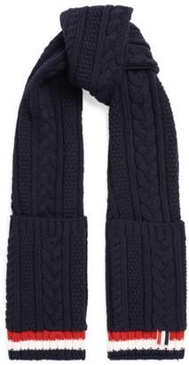 Thom Browne Aran Knit Wool Scarf