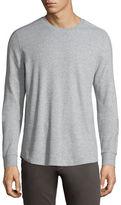 Vince Long-Sleeve Waffle-Knit Sweater, Heather Grey