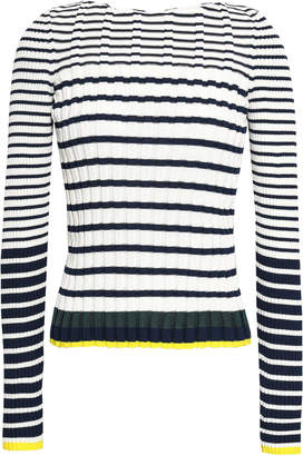 Pringle Ribbed Striped Cotton-blend Sweater