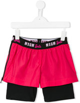 MSGM double layered shorts - kids - Polyester - 6 yrs