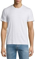 Etro Crewneck Short-Sleeve Linen T-Shirt, White
