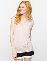 A Pea in the Pod Faux Wrap Cap Sleeve Nursing Sleep Top