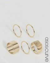 Asos Pack of 5 Pyramid Ring Pack