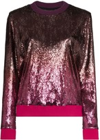 Mary Katrantzou Magpie ombre-effect sequinned sweatshirt