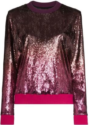 Mary Katrantzou Magpie ombre-effect sequinned sweatshirt