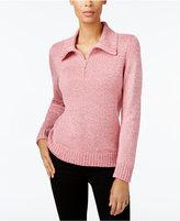 Karen Scott Mock-Neck Zip Sweater, Created for Macy's