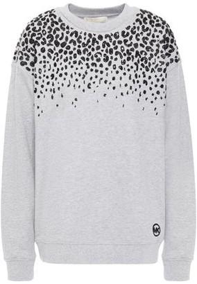 MICHAEL Michael Kors Embellished French Cotton-terry Sweatshirt