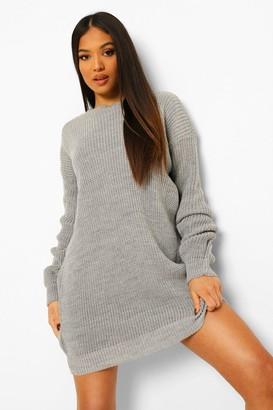boohoo Petite Crew Neck Sweater Dress