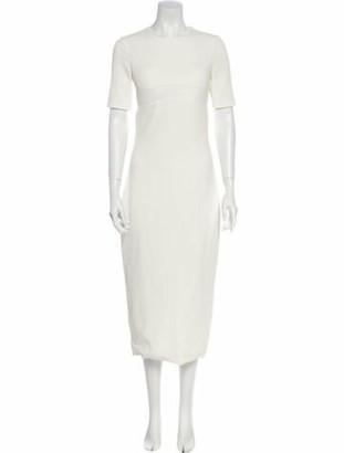 Brandon Maxwell Crew Neck Long Dress White