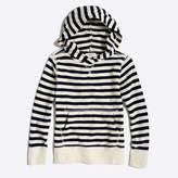 J.Crew Factory Boys' striped popover hoodie