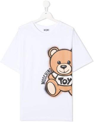 MOSCHINO BAMBINO TEEN teddy-bear print T-shirt