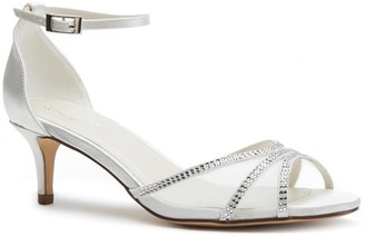 Linzi Paradox London Luna Ivory Extra Wide Fit Low Heel Ankle Strap Sandals
