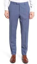 BOSS Men's Leenon Flat Front Solid Wool Trousers