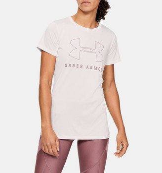 Under Armour Women's UA Tech Logo Graphic Short Sleeve Crew