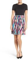 Maggy London Women's Pleat Fit & Flare Dress