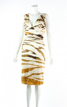 Roberto Cavalli Orange Silk Dresses