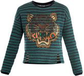 Kenzo Embellished tiger stripe sweatshirt