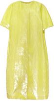 Rochas Bonded Velvet Panne Silk Short Sleeve Coat