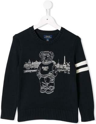 Ralph Lauren Kids Paris Polo Bear sweater