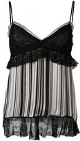Giambattista Valli lace trim striped tank - women - Silk/Polyamide/Viscose - 40
