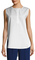 ADAM by Adam Lippes Front Placket Sleeveless Tunic