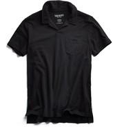 Todd Snyder Made in L.A. Slub Jersey Montauk Polo in Black
