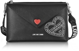Love Moschino Pocket Love Black Eco Leather Shoulder Bag