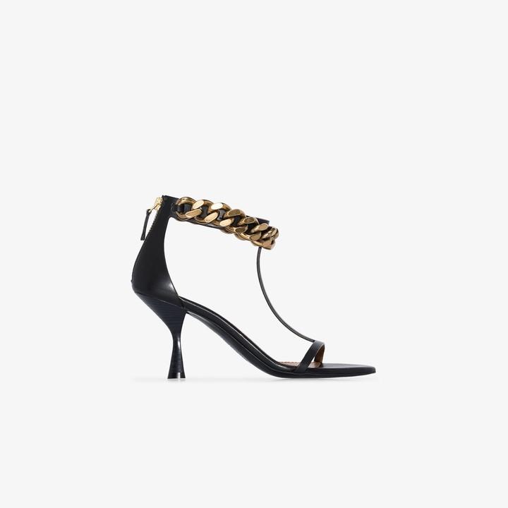 Stella McCartney black Falabella 80 T-Bar sandals