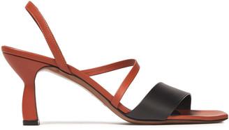 Neous Ecu Two-tone Leather Slingback Sandals
