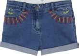 Stella McCartney Eddie embroidered denim shorts 4-14 years
